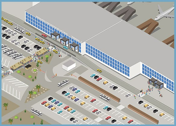 SJD Cabo Airport Parking Map Terminal 2