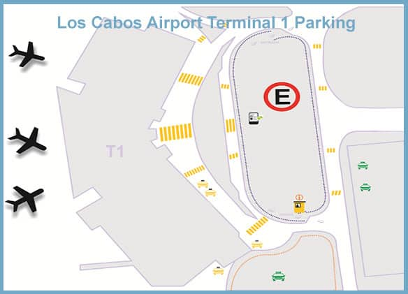 Los Cabos Airport Terminal 1 Parking Map