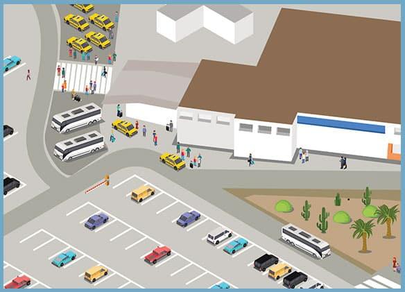 SJD Los Cabos Airport Terminal 1 Passenger Pick-Up