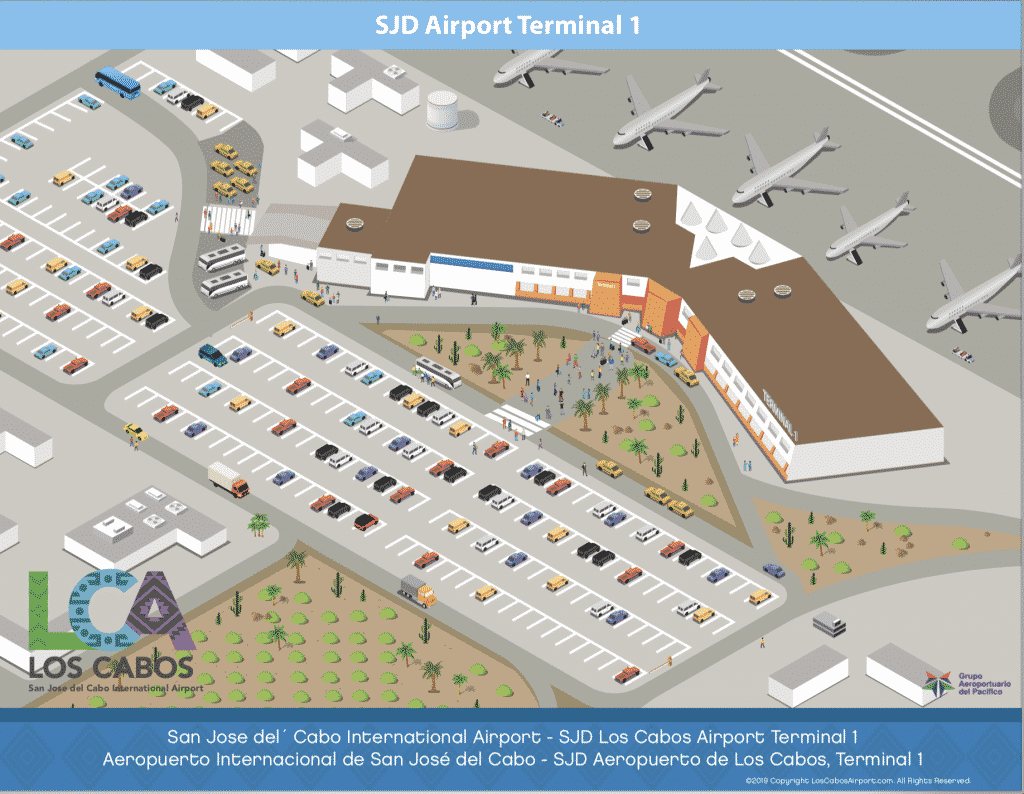 Sjd Airport Map Cabo Airport Maps | SJD International Airport Maps